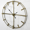 Simple Round Decorative Metal Wall Clock