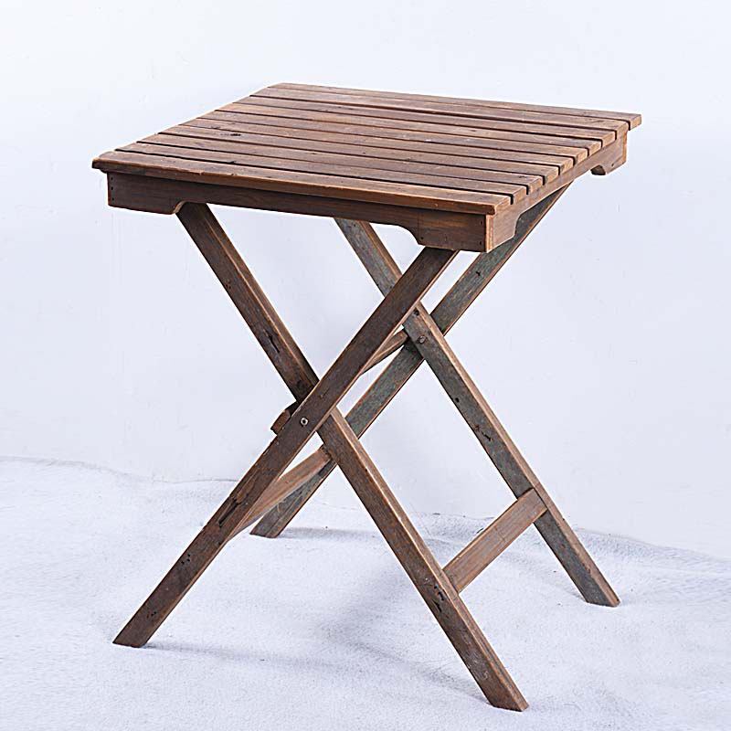 Vintage Rustic Wooden Fold Table