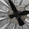 Vintage Farmhouse Industrial Large Galvanized Metal Windmill Wall Clock