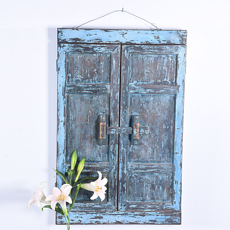 shabby chic handicrafts paint wood decorated window frame mirror design