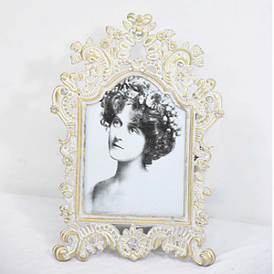 Vintage Metal Gold Finish Lace Ornate Filigree Mini Photo Frame
