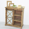 Natural vintage Farmhouse sliding barn door cabinet