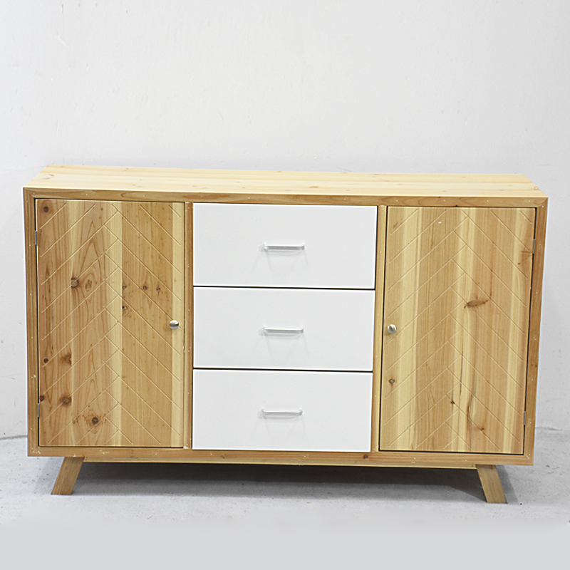 Fresh Style Vintage Living Room Furniture Wooden Sideboard with Doors And Drawers