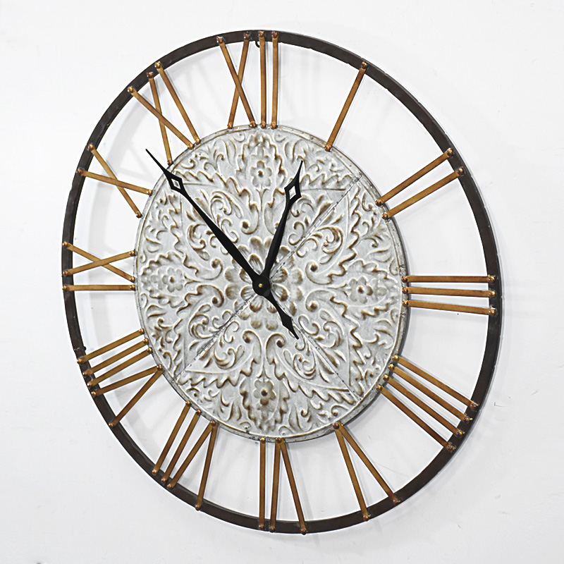 Vintage Round Handcraft Metal Wall Clock Home Decoration Buy Wall