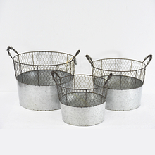 Industrial Rust Finish Chi Gray Cheap Zinc Wire Basket