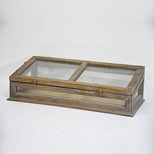 vintage farmhouse rustic small Wooden greenhouse Plant Terrarium