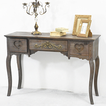Antique Vintage French Country Style Living Room Wooden Console Table