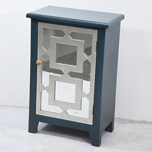 Vintage Mirrored One Door Accent Cabinet