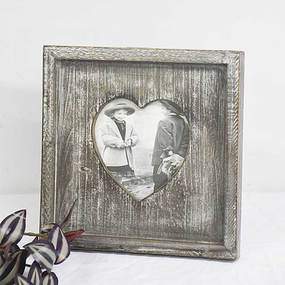 Shabby Chic Vintage heart Black Wooden Photo Frame for Home Décor
