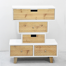 wooden Natural Shoreditch Mixed-Up Drawers by White & Original Wood Color