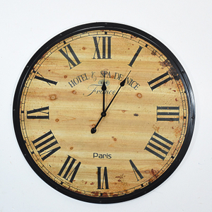 Handmade Oversized Retro Rustic Decorative Wooden Wall Clock for Gift