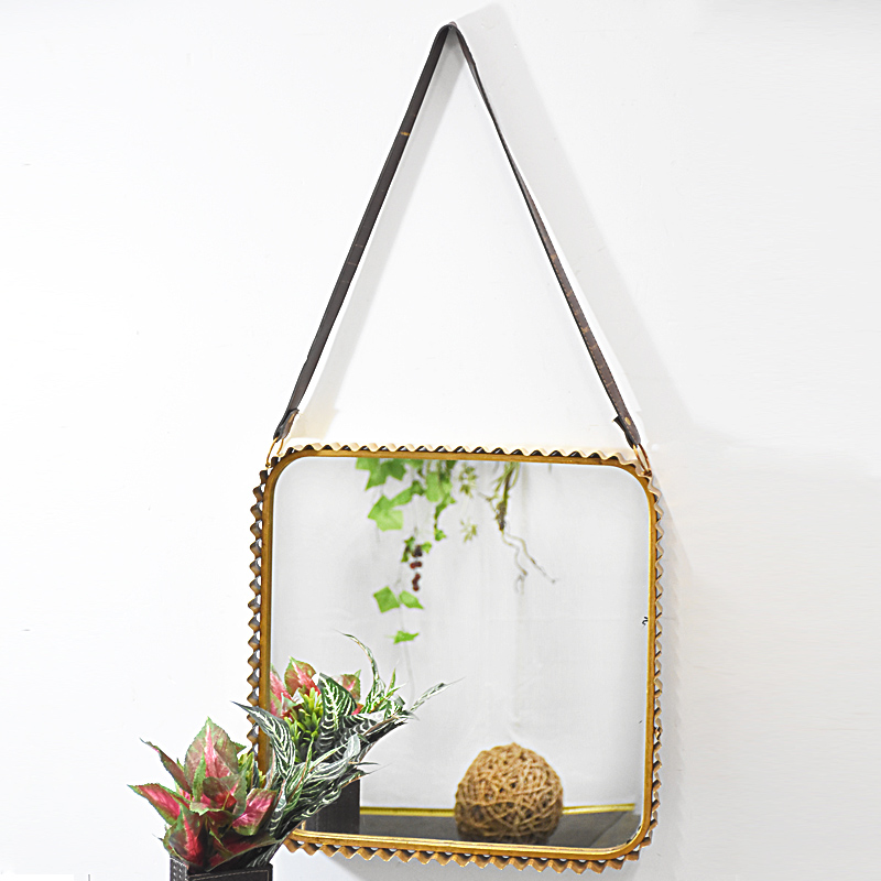Home Decoration Square Metal Gold Frame Mirror Wall Décor
