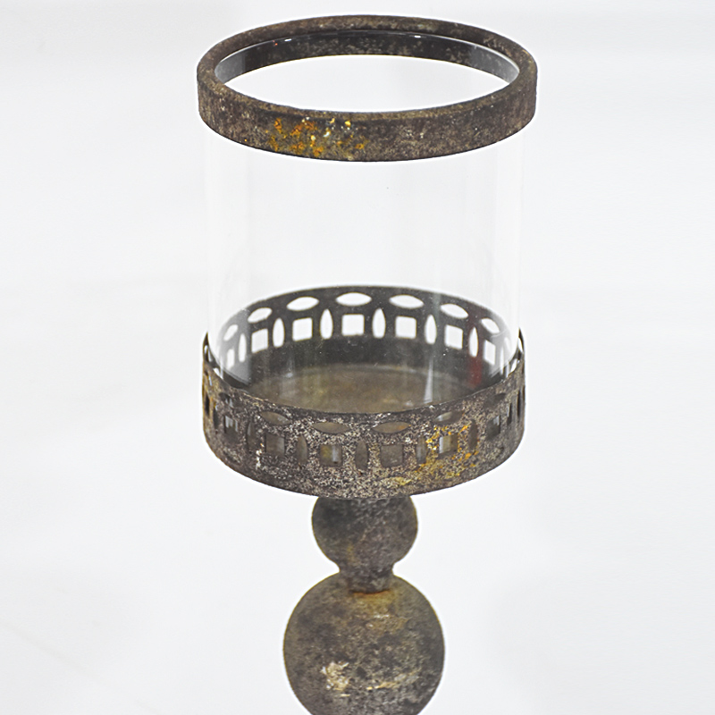 Antique Decorative Rustic Home Decoration Candle Holder Metal