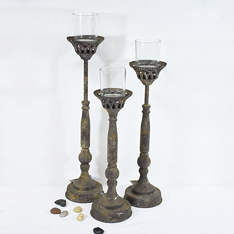 Shabby Chic Vintage Wedding Decoration Floor Standing Candle Holders