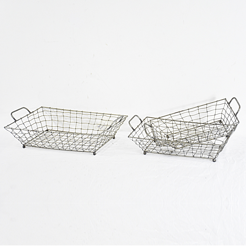 Decorative large Metal Wire Mesh Basket for Storage Fruit And Vegetable