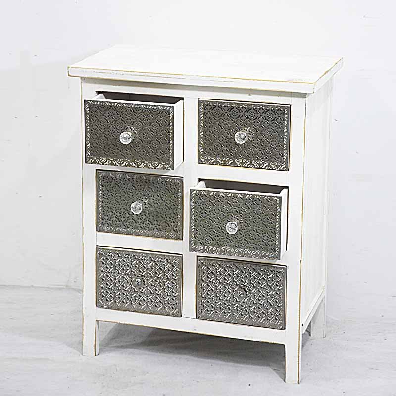Shabby Chic White Wooden Chest