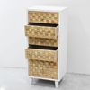 Natural Vintage Furniture Wood 6 Drawer Tall Chest of Drawers