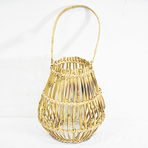 Rustic Cheap Natural Bamboo Lantern with Handle