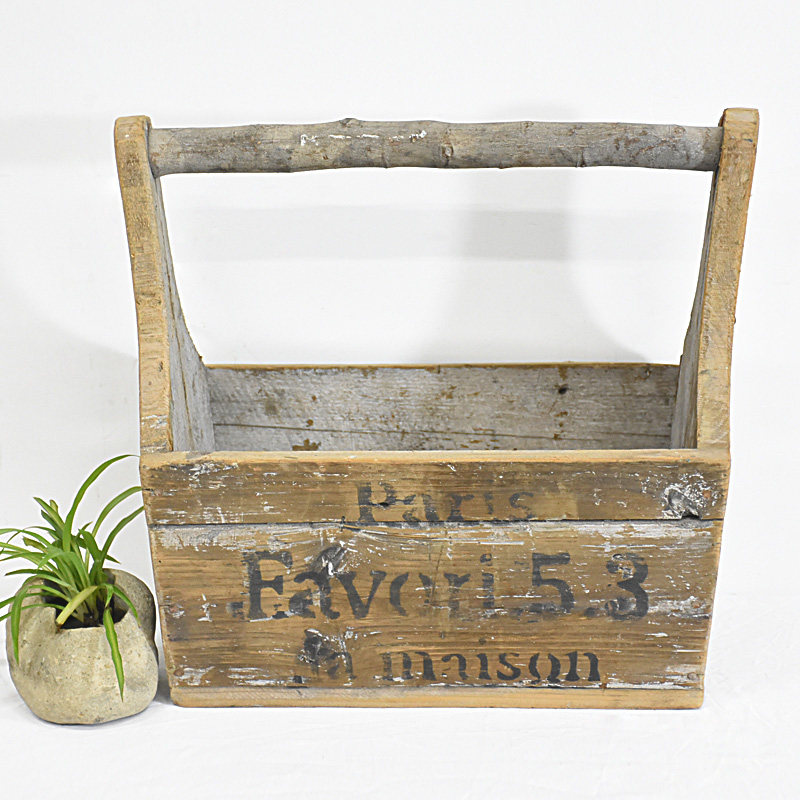 Vintage Farmhouse Recycled Wood Homemade Wooden Tool Boxes.