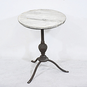 3 Splay Legs Pedestal shbby chic round wooden sideTable