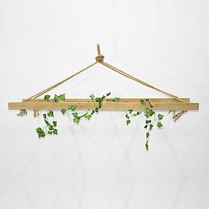 Rustic Decorative Hanging Ladder Shelf