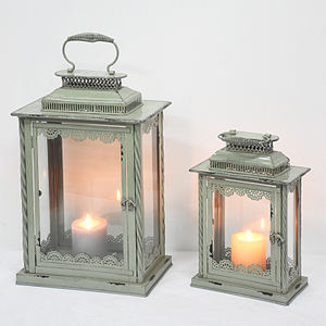 Rustic Vintage Home Decor Wedding Centerpiece Distressed Lighting Lantern