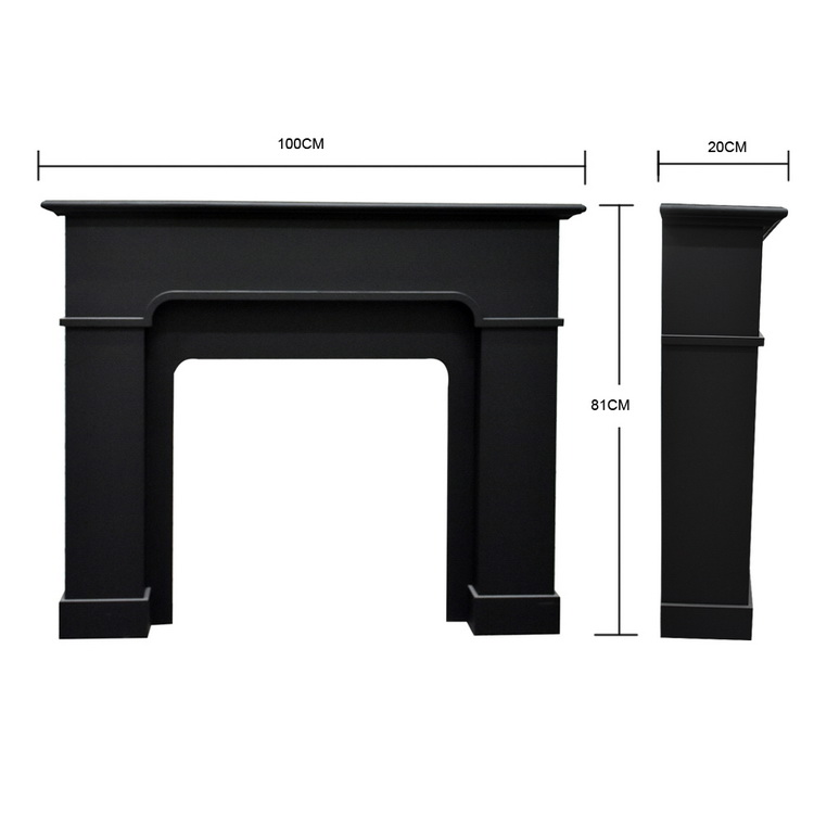 Luckywind Custom Design High Quality Indoor Used Freestanding Gas Black Wood Fireplace