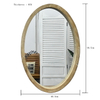 Luckywind Antique Vintage Reclaimed Wood Frame Oval Decorative Wall Mirror for Home Decor
