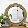 Luckywind Living Room Wall Antique Wood Mirror Frame Mirrors Decor Wall, Mirrors Decor Wall Round